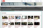 L'homepage del canale Youtube Journalists memorial