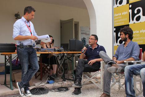 Giampaolo Colletti intervista Danilo Lupo di Telerama e Luca Rosini di Annozero (foto di Laura Murino)