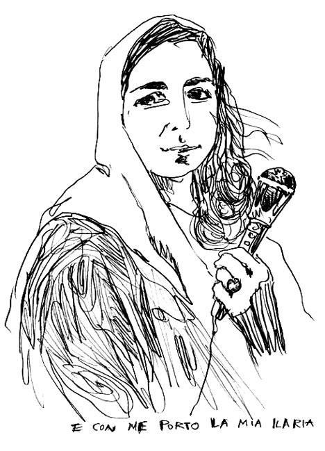 Ilaria Alpi in un disegno di Roberto De Grandis