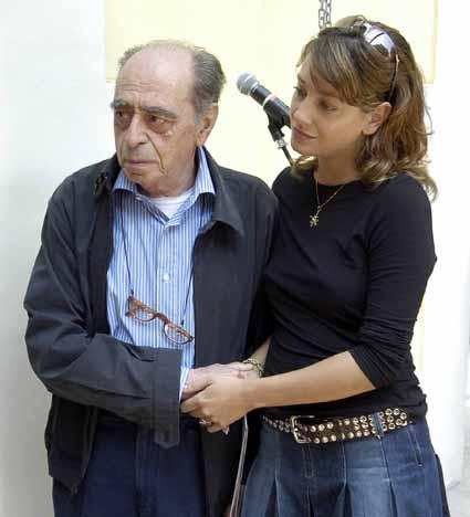 Giorgio Alpi con Giovanna Mezzogiorno al Premio Ilaria Alpi, Riccione.