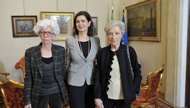 Mariangela Gritta Grainer e Luciana Alpi con Laura Boldrini